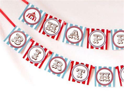 printable circus banner printable diy happy birthday banner twins first birthday
