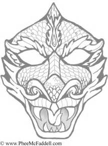 dragon faces pictures coloring