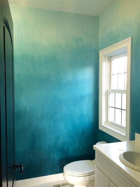 painted walls operation ombre turquoise dip dyed painted wall treatment