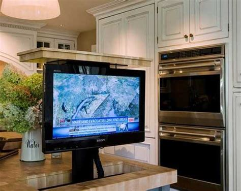 Countertop Tv by 7 Modern Kitchen Design Trends Stylishly Incorporating Tv