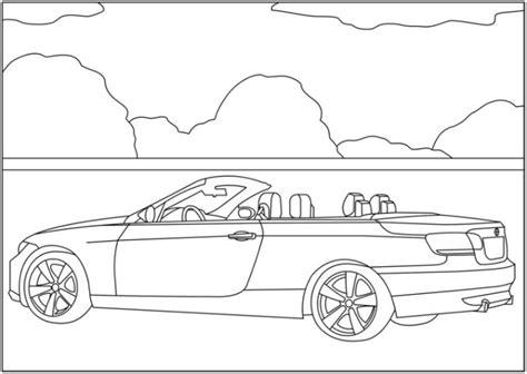 Malvorlagen zum Drucken Ausmalbild BMW kostenlos 2