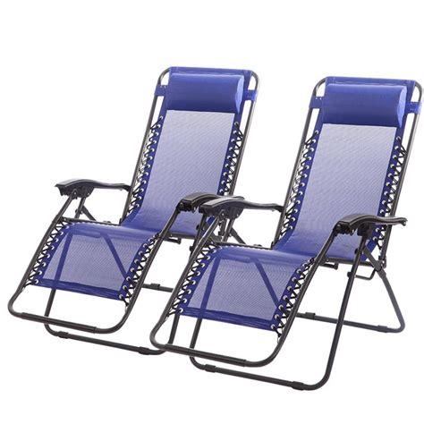 Zero Gravity Outdoor Lounge Chair by New Zero Gravity Chairs Of 2 Lounge Patio Chairs