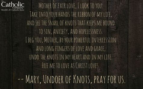catholic prayer before bed 55 best images about mary untier of knots on pinterest