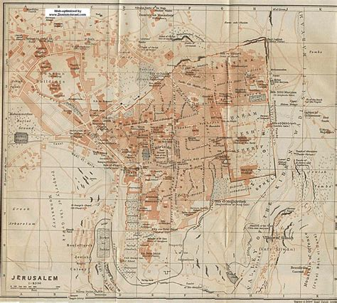 maps of jerusalem jerusalem map 1912