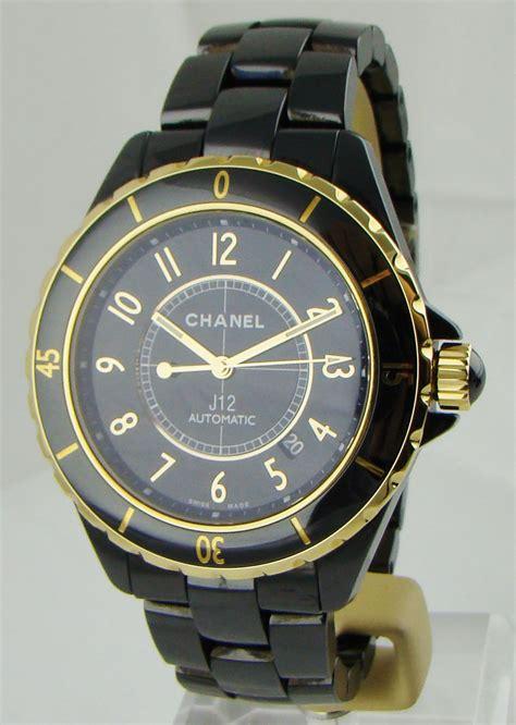 chanel j12 automatic black ceramic yellow gold 42 mm h2129