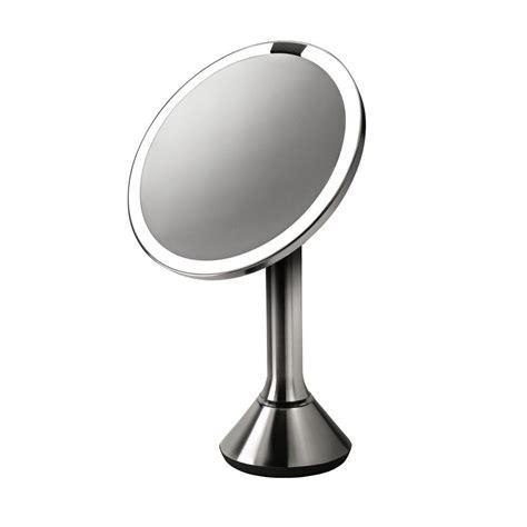 simplehuman lighted makeup vanity mirror simplehuman lighted sensor activated vanity makeup mirror
