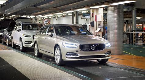 volvo truck production volvo cars goes from strength to strength as first v90