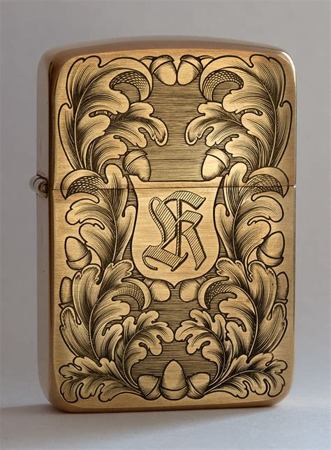 oak leaf zippo viljo marrandi art and engraving