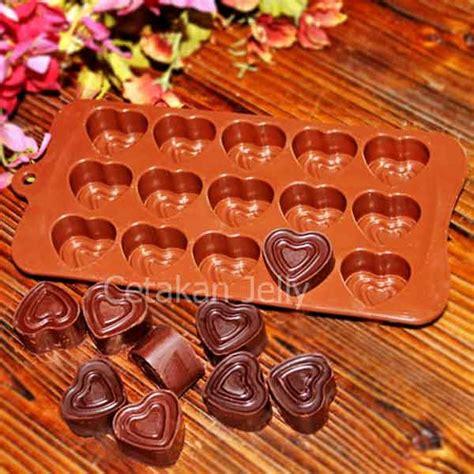 cetakan silikon coklat puding 3 layer cetakan jelly cetakan jelly
