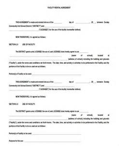 Facilities Rental Agreement Template by Blank Rental Agreement 9 Free Word Pdf Documents