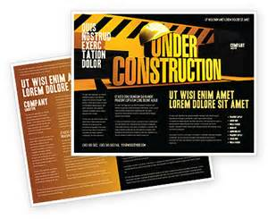 construction flyer templates free closed construction brochure template design and