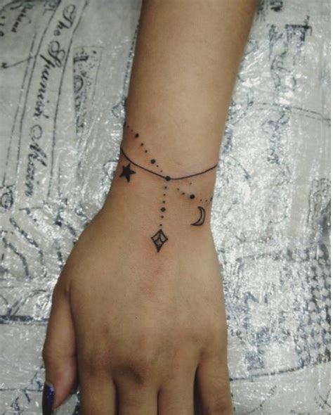50 charming wrist bracelet tattoos designs and ideas 2018