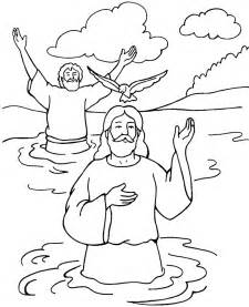 baptism coloring pages baptism of jesus color page