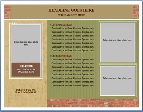 free ms word real estate flyer template formal word