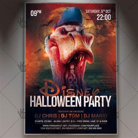 Download Disney Halloween Flyer Psd Template Psdmarket Disney Flyer Template