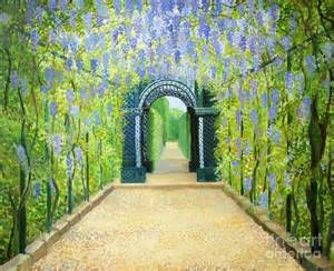 Metal Wall Art For Gardens - schoenbrunn in vienna the palace gardens painting by kiril stanchev
