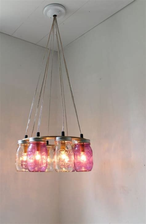 how to wire a jar chandelier purple jar chandelier upcycled hanging