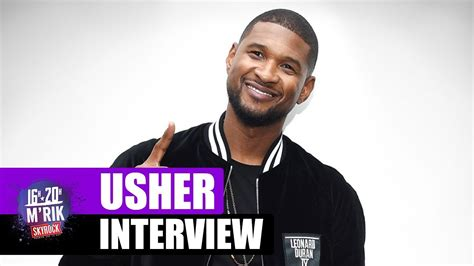 usher question interview usher by m rik skyrock youtube