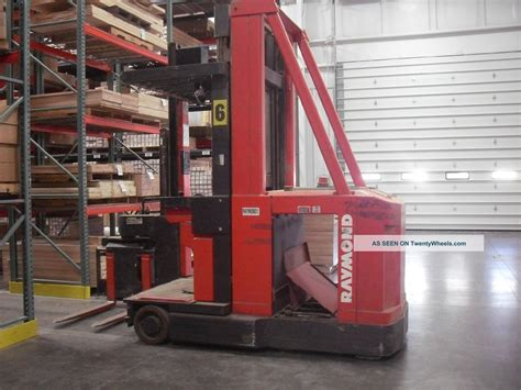 swing reach forklift raymond 537 csr30t swing reach forklift fork lift