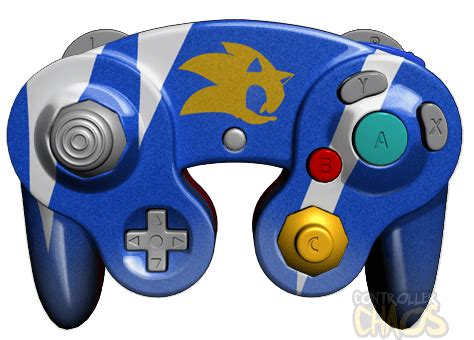 gamecube controller colors sonic gamecube custom controllers controller chaos