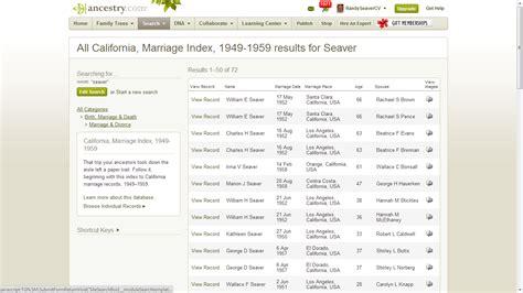 California Marriage Records Index Genea Musings Ancestry Adds California Marriage Index