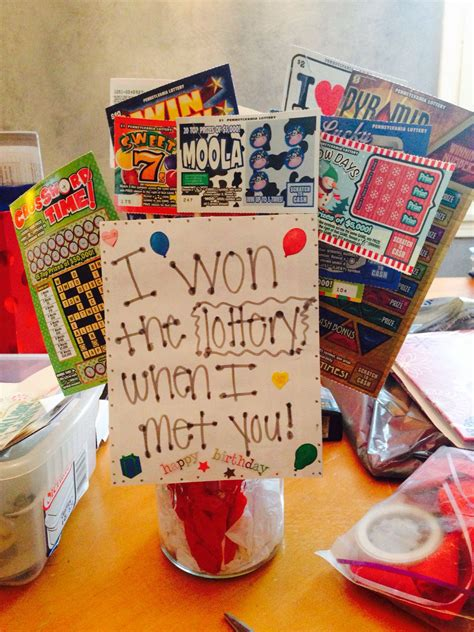gift for my boyfriend birthday lottery tree for my boyfriends birthday quot i won the lottery when i gift ideas