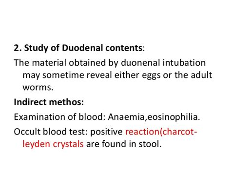 Stool Occult Blood Positive Treatment by Hookworm Infestation
