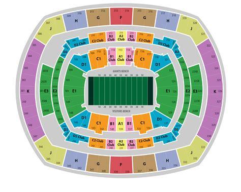 metlife stadium seating chart giants 2014 bowl tickets metlife stadium seating chart