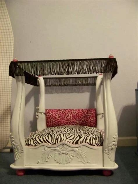 dog bed out of end table end table up cycled to a dog bed wow diy pinterest