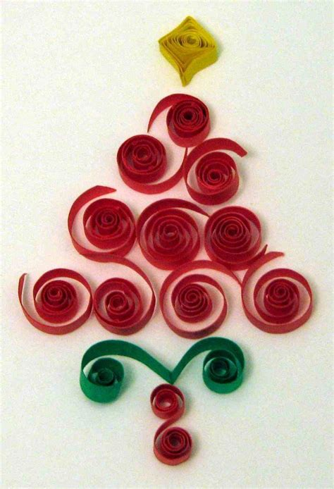 free pattern quilling quilled christmas tree quilling