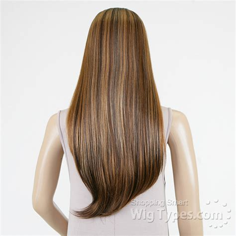 Wig Cewek 1 model model invisible diagonal part synthetic wig holidays oo