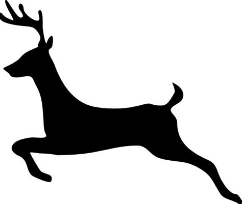 Flying Reindeer Silhouette Deer Outline Profile Clip Art Vector Clip Art Online Royalty Reindeer Silhouette Template