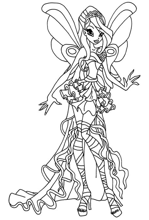 Winx Club Bloom Harmonix Coloring Pages harmonix bloom by elfkena on deviantart