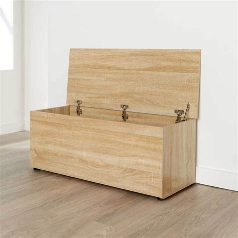 Large Wooden Ottoman Storage Chest Oak Toy Chest Bedding Wooden Ottoman Storage Box