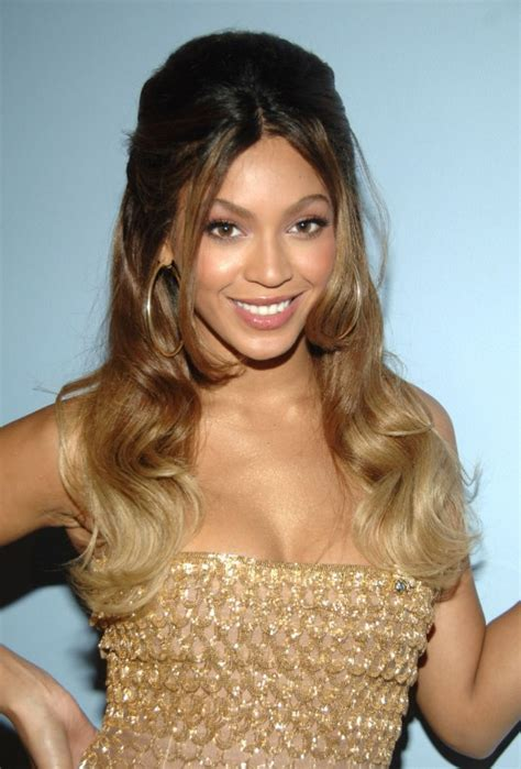 ombre half up half down hairstyles half up half down ombre hairstyle from beyonce knowles