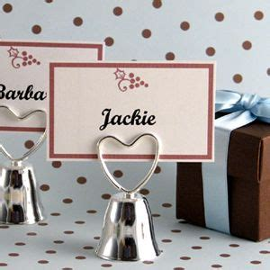 Wedding Bell Favours by Wedding Bell Placecard Holder Favour