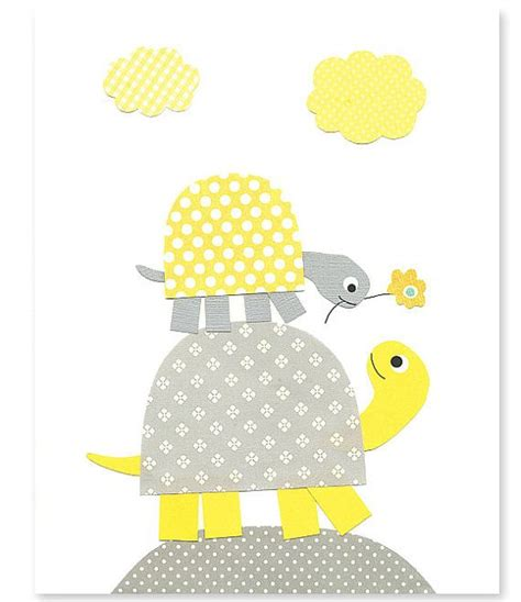 yellow and gray nursery turtle nursery print gender