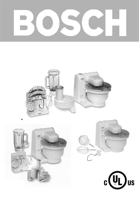 Mixer Bosch Mum4405 bosch appliances blender 4635 uc user guide