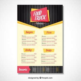 modern food truck design menu vectors photos and psd files free download