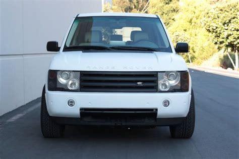 2003 white range rover buy used 2003 matte white range rover hse custom 24 quot rims