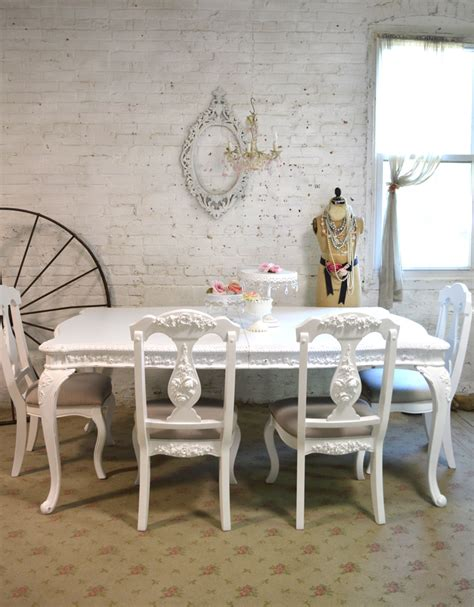 white painted dining table painted cottage dining table