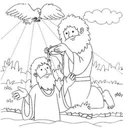 coloring pages for the baptist jesus baptized by the baptist coloring page for
