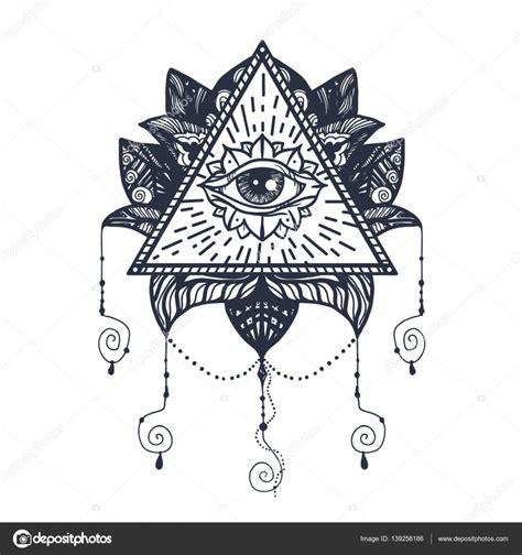 occhio su lotus tattoo vettoriali stock 169 barsrsind