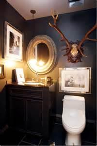 Dark Bathroom Colors Dark And Dramatic Half Bath Love The Combination Of Dark