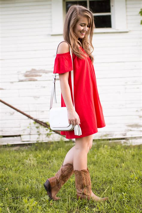 red   shoulder sundress  lonestar state  southern