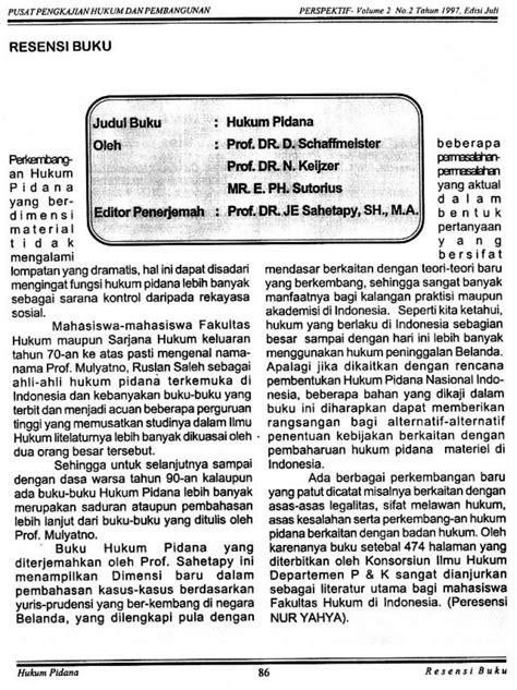 (PDF) Resensi Buku: HUKUM PIDANA