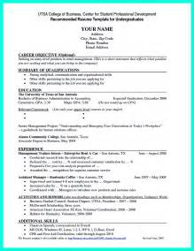 Resume Template For Undergraduate Current College Student Resume Is Designed For Fresh Graduate Student Who Want To Get A Soon