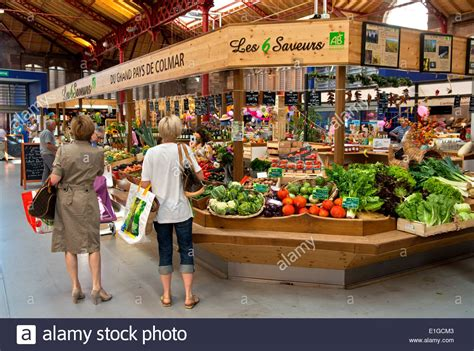 fruit market stand for fruits and vegetables on the green market in the