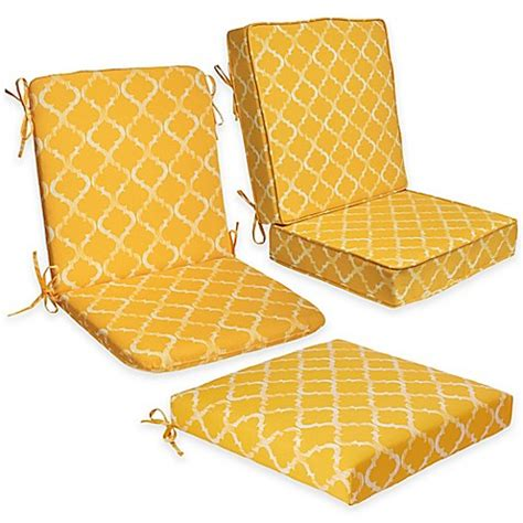 enhance outdoor seat cushion collection in yellow bed
