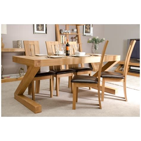 Chunky Dining Room Table Zouk Solid Oak Designer Furniture Large Chunky Dining Room Table Ebay